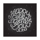 Hand-sketched typographic elements on chalkboard Stock Photos