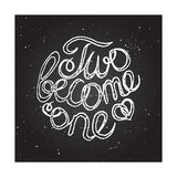 Hand-sketched typographic elements on chalkboard Royalty Free Stock Photos