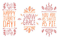 Hand-sketched typographic elements  Stock Images
