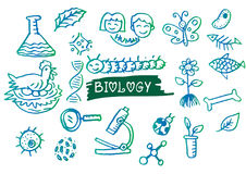 Hand sketches of biology. Royalty Free Stock Photography