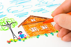 Hand sketching picture Royalty Free Stock Image