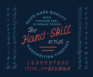 HAND-SKILL pismo Royalty Ilustracja