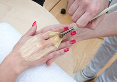 Hand skin treatment Royalty Free Stock Photo