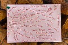 Hand-skriftligt lyckligt nytt år Arkivbild