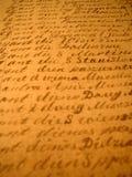 hand skriven ii Arkivfoto