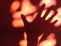 Hand skuggar fotografering för bildbyråer