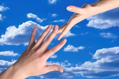 Hand in the sky Royalty Free Stock Image