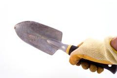 hand skyffeln Arkivfoto