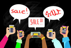 Hand Smart Phone Communication Send Chat Message Royalty Free Stock Image