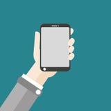 Hand Smartphone Flat Design Stock Image