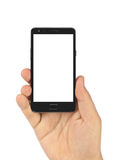 Hand with smartphone Stock Photography