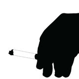 Hand Smoking Silhouette Royalty Free Stock Photo