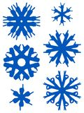 Hand snowflakes Stock Images