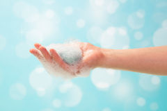 Hand and soap foam Royalty Free Stock Photos