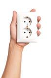 Hand with socket Stock Photo