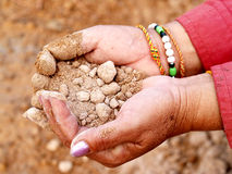 Hand  and soil 2 Royalty Free Stock Photos