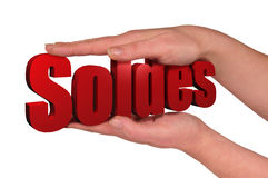 Hand and soldes Royalty Free Stock Images