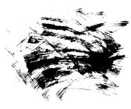 Hand som dras av grungetextur var den abstrakt borsten målad verklig slaglängdtextur till spårat royaltyfri foto