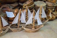 Hand - som göras att segla fartyg i sikt Arkivbild