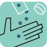 Hand som mottar pills Vektor Illustrationer