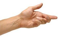 hand som ner ut Arkivbild