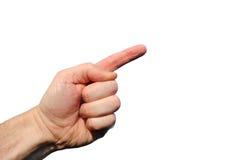 hand som pekar upp Arkivfoton
