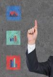 Hand som pekar upp fingret Arkivfoton