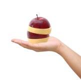 Hand som rymmer blandad frukt Arkivbild