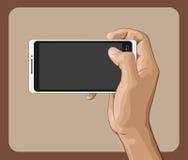 Hand som rymmer Smartphone II Arkivbilder