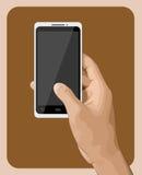 Hand som rymmer Smartphone III Royaltyfria Bilder