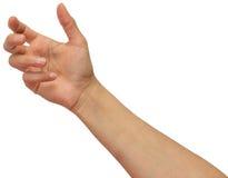 Hand som rymmer tomt utrymme Royaltyfri Foto