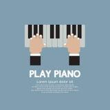 Hand som spelar pianot. Royaltyfri Bild