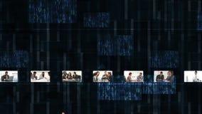 Hand som väljer gem om affär lager videofilmer