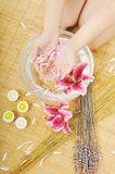 Hand spa and beauty treatment Royalty Free Stock Photo