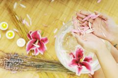 Hand spa and beauty treatment Royalty Free Stock Image