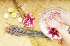 Hand spa beauty treatment stock photography