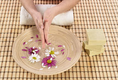 Hand spa beauty treatment Stock Images
