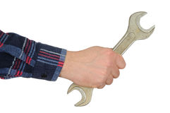 Hand with Spanner Royalty Free Stock Photography