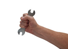 Hand & Spanner Stock Image