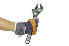 Hand with spanner Stock Photography