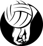 Hand spiking volleyball Royalty Free Stock Image