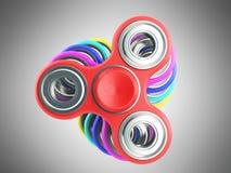 Hand Spiners 3d übertragen auf grauem Hintergrund Lizenzfreie Stockfotografie