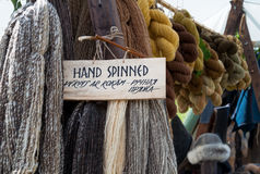 Hand spinned woolen yarn Stock Image