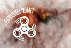 Hand Spinner background with space for text. Spinner Time Stock Photos