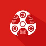 Hand Spinner Emblem Royalty Free Stock Images