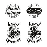 Hand Spinner emblems Royalty Free Stock Photography