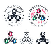 Hand Spinner emblems Stock Images