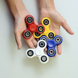 Hand spinner, fidgeting hand toy Royalty Free Stock Photos