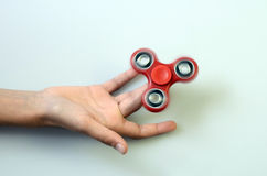 Hand spinner, fidgeting hand toy Royalty Free Stock Images