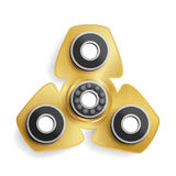 Hand Spinner Toy. Fidget Spinner Kinesthetic Toy. Vector Illustration Royalty Free Stock Photography
